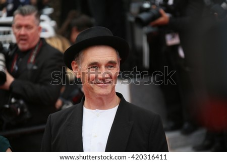 Mark Rylance attends the screening of 'The BFG' at the annual 69th Cannes Film Festival at Palais des Festivals on May 14, 2016 in Cannes, France. - stock photo