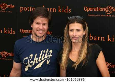 Mark Wahlberg and wife Rhea Durham at the Pottery Barn Kids Halloween Carnival Benfiting Operation Smile, Private Location, Los Angeles, CA. 10-23-10