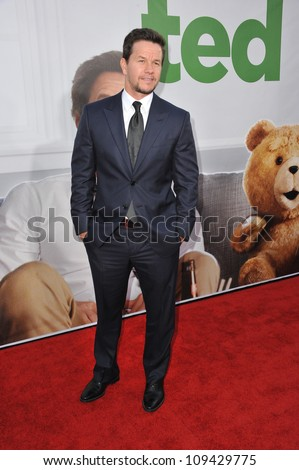 """Mark Wahlberg at the world premiere of his movie """"Ted"""" at Grauman's Chinese Theatre, Hollywood. June 22, 2012  Los Angeles, CA Picture: Paul Smith / Featureflash - stock photo"""