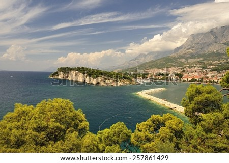 Markarska Riviera in Croatia.  - stock photo
