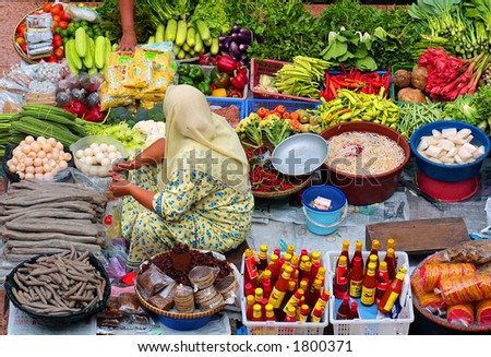 Market - stock photo