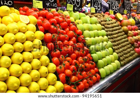 Market - stock photo