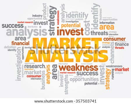 Market Analysis business concept word cloud - stock photo