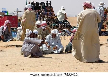 market  at egypt - stock photo