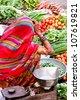 Market at Jaisalmer, India - stock photo