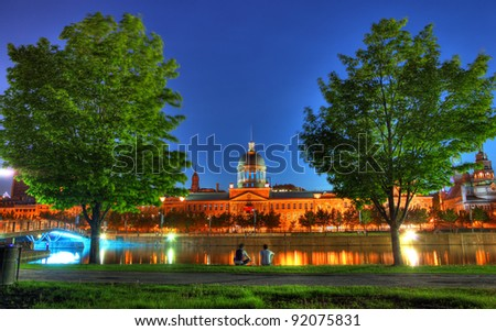 Market Building in the Old Montreal City - stock photo