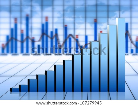 market chart and graph - stock photo