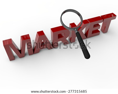Market - 3D Text over white background - stock photo