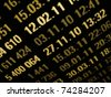 Market data on gold tone  on a monitor - stock photo