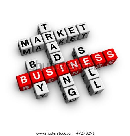 market (from crossword series) - stock photo