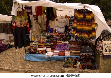 Market in a city of Chiapas, Mexico - stock photo