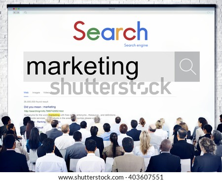 Market Marketing Advertisement Commercial Consumer Concept - stock photo