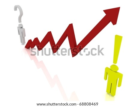 Market question and success answer with business graph - stock photo