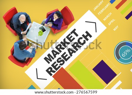 Market Research Analysis Bar Graph Solution Strategy Concept - stock photo