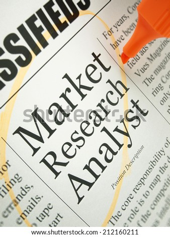 Market Research Analyst (job search)   - stock photo