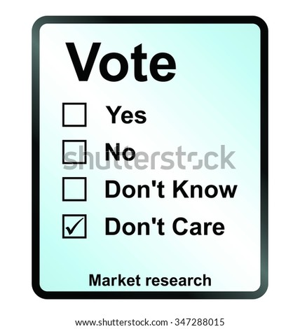 market research vote sign isolated on white background - stock photo