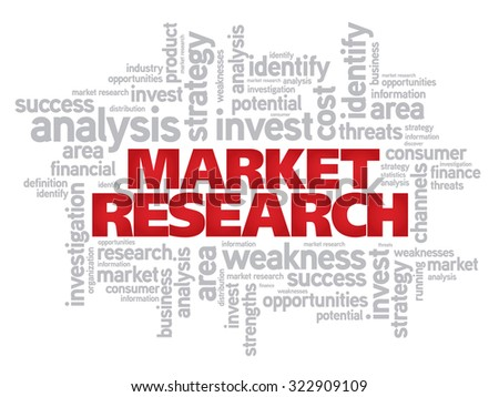 Market Research word cloud business concept background - stock photo