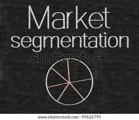 market segmentation written on blackboard background high resolution - stock photo