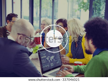 Market Share Business Graph Chart Competition Concept - stock photo
