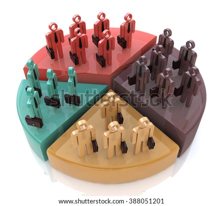 Market Share in the design of information related to business and trade - stock photo