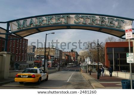 market street sign - stock photo
