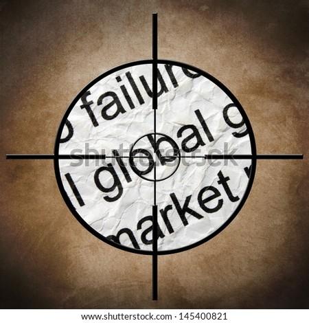 Market target - stock photo