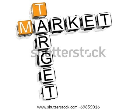 Market Target Crossword - stock photo
