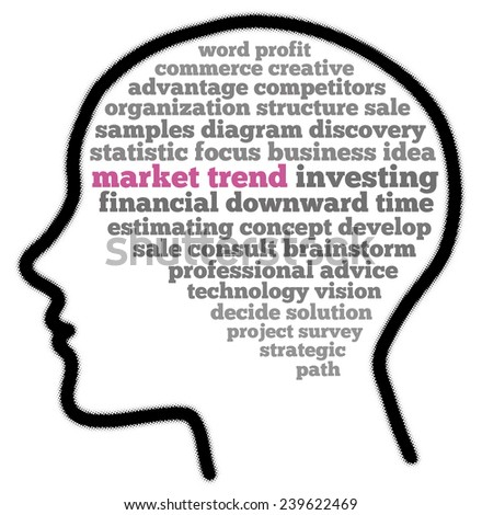Market trend in word collage - stock photo