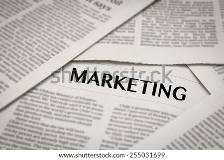 marketing - stock photo