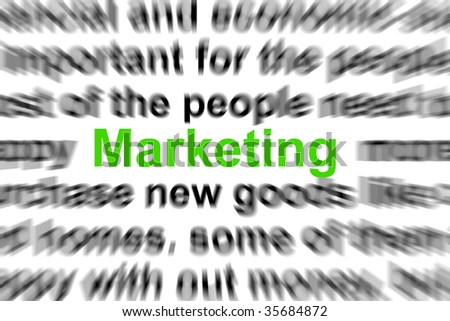marketing an money concept with text in a newspaper - stock photo