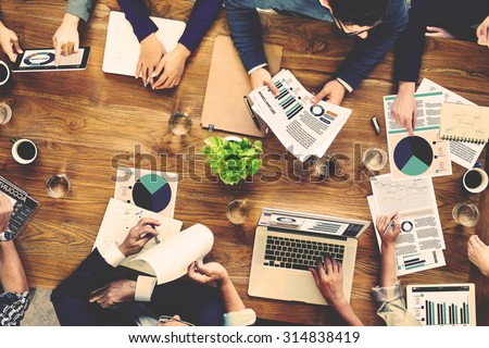 Marketing Analysis Accounting Team Business Meeting Concept - stock photo
