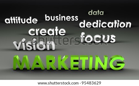 Marketing at the Forefront in 3d Presentation - stock photo