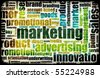 Marketing Background as Art with Related Terms - stock vector