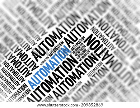 Marketing background - Automation - blur and focus - stock photo