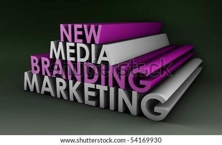 Marketing Brand in the New Media Concept - stock photo