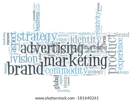 Marketing brand word cloud