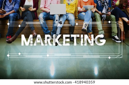 Marketing Branding Business Commercial Design Concept - stock photo