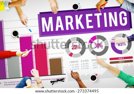 Marketing Distributing Analysing Data Bar Graph Concept - stock photo