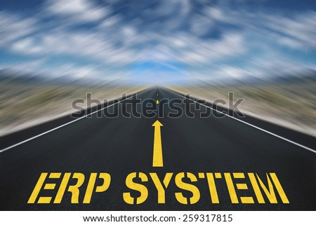 marketing erp diagram - stock photo