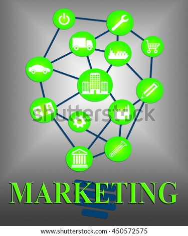 Marketing Ideas Representing Concepts Plans And Commerce - stock photo