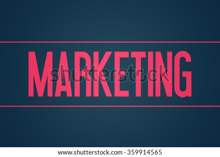 Marketing - Illustration - Text Graphic - Modern Business Design