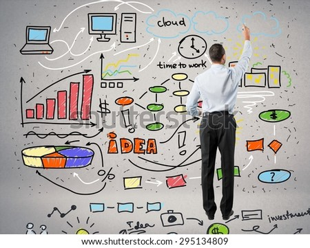 Marketing, leadership, brainstorming. - stock photo
