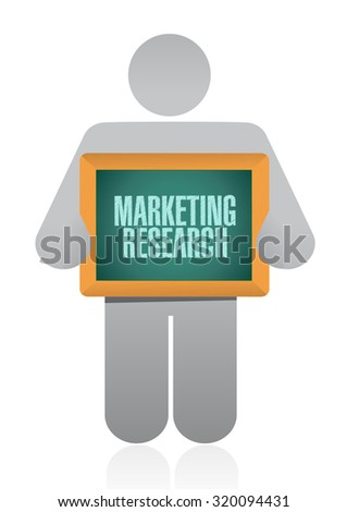 Marketing Research avatar board sign concept illustration design graphic