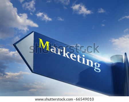marketing road sing for business and financial concepts