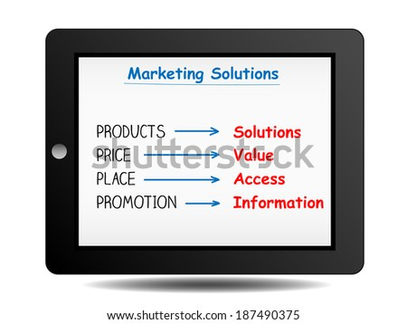 marketing solutions on tablet
