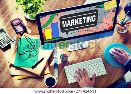 Marketing Strategy Branding Commercial Advertisement Plan Concept - stock photo