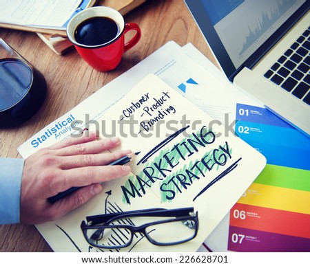 Marketing Strategy Customer Product Branding Concept - stock photo