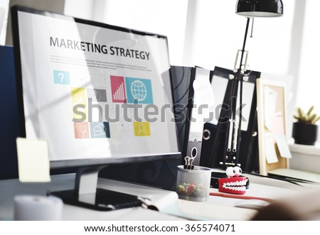 Marketing Strategy Planning Strategy Concept - stock photo