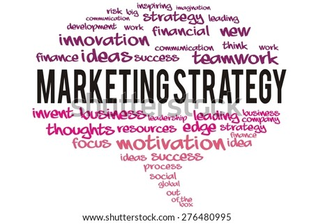 marketing strategy word on speech bubble colorful concept - stock photo