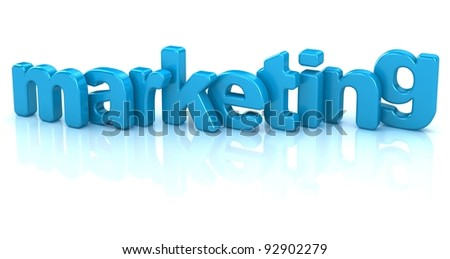 marketing text 3d isolated over white background